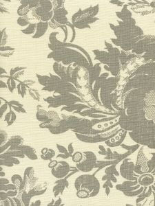 306086F DES GARDES Gray on Tint  Quadrille Fabric