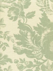 306082F DES GARDES Soft French Green on Tint Quadrille Fabric