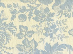 306081F DES GARDES Soft Windsor Blue on Tint Quadrille Fabric