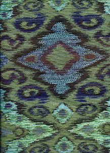 010980T FANTASIA Multi Turquoise Blues Quadrille Fabric