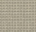 4045-06 FEZ II Silver Metallic on Tan Quadrille Fabric