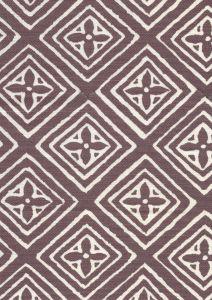 2490-10 FIORENTINA Prune on Tint Quadrille Fabric