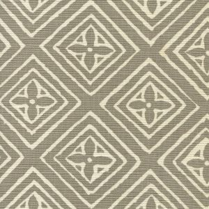 2490-02 FIORENTINA Pewter on White Quadrille Fabric
