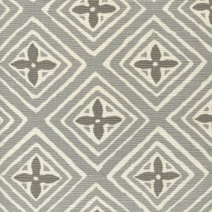 2500-02 FIORENTINA TWO COLOR Grey Dark Grey Quadrille Fabric