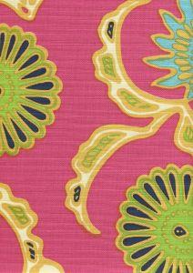 6980-04 FLORA II Pink Yellow Green Blue Quadrille Fabric