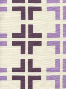 8120-04 FROWICK LARGE SCALE Purple Lilac on Tint Quadrille Fabric