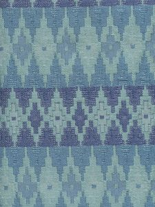 020190T FYRESTONE Navy China Blue Aqua Quadrille Fabric