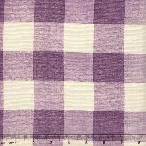 302527F HINGHAM PLAID Lilac on Tint Quadrille Fabric