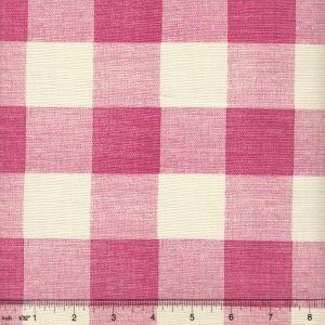 302525F HINGHAM PLAID Magenta on Tint Quadrille Fabric