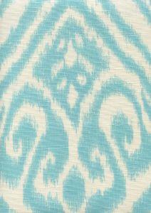306570-03 ISHIM IKAT Turquoise on Tint Quadrille Fabric