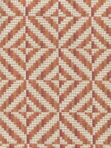 020170T KALEIDOSCOPE Terracotta Burnt Orange Quadrille Fabric