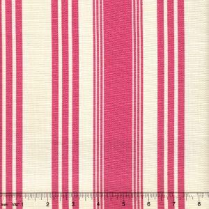 302743F LANE STRIPE Pink on Tint Quadrille Fabric