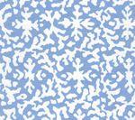 AC120-09 LAUREL REVERSE Reef Blue on White Quadrille Fabric