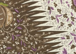 302653F LES INDIENNES MULTICOLOR Multi Brown Taupe Lilac Quadrille Fabric