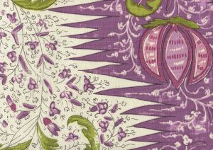 302652F LES INDIENNES MULTICOLOR Multi Lilac Plum Green Quadrille Fabric