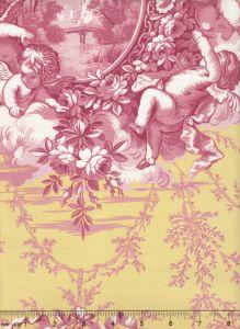 2473-02 LES AMOURS Rose Quadrille Fabric