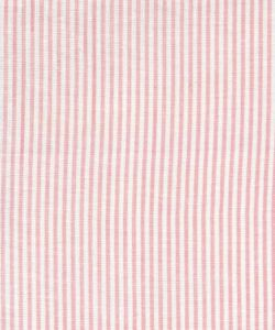 6920W-15 LILA STRIPE Soft Pink on White Linen Quadrille Fabric