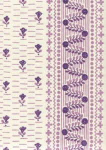 306297CT LINKS II Purple Lilacs on Cotton Sateen Quadrille Fabric