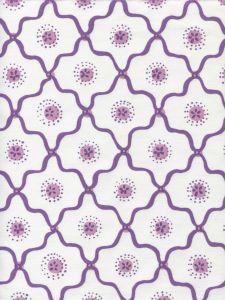 306320C-05CTT LONGFELLOW Purple Lilac on White Cotton Quadrille Fabric