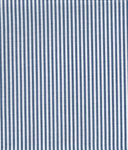 6930W-17 LULU STRIPE Navy on White Linen Quadrille Fabric