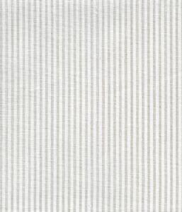 6930W-13 LULU STRIPE Soft Gray on White Linen Quadrille Fabric