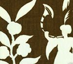 6015-09 LYFORD BACKGROUND Brown on White Quadrille Fabric