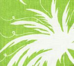 6015-05 LYFORD BACKGROUND Jungle Green on White Quadrille Fabric
