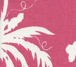 6015-07 LYFORD BACKGROUND Magenta on White Quadrille Fabric