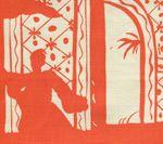 6580-11 LYFORD PAGODA Orange on Tint Quadrille Fabric