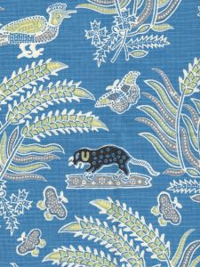 2320-04 MALAY BATIK French Blue Quadrille Fabric