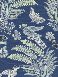 2320-01 MALAY BATIK Navy Multi Quadrille Fabric