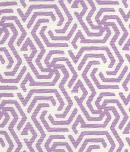 2525R-04 MAZE REVERSE ONE COLOR Lilac on Tint Quadrille Fabric