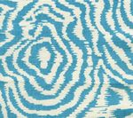 AC809-05 MELOIRE REVERSE Turquoise on Tint Quadrille Fabric