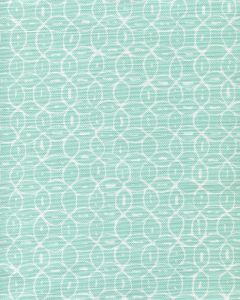 6455-13 MELONG BATIK REVERSE Light Turquoise on White Quadrille Fabric