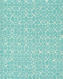 6455-33 MELONG BATIK REVERSE Turquoise on Tint Quadrille Fabric