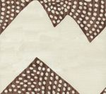 AC720-16 MOJAVE ZIG ZAG Brown on Tint Quadrille Fabric