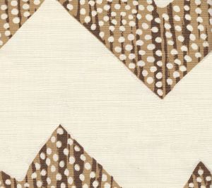 AC720-11 MOJAVE ZIG ZAG Mocha on Tint Quadrille Fabric