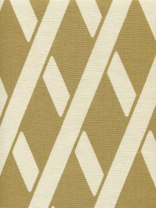 CP1050-04 MONTECITO BAMBOO Gold Metallic on Tan Linen Quadrille Fabric