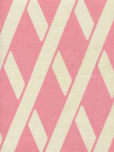 CP1050-01 MONTECITO BAMBOO Soft Pink on Tan Linen Quadrille Fabric