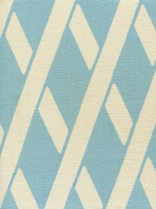 CP1050-02 MONTECITO BAMBOO Turquoise on Tan Linen Quadrille Fabric