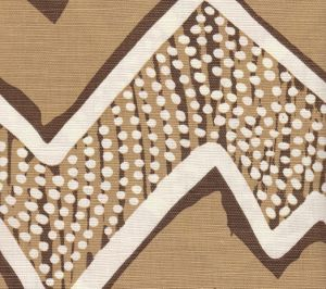 AC250-11 MONTECITO Mocha on Tint Quadrille Fabric