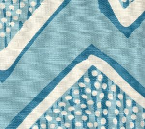 AC250-07 MONTECITO Turquoise on Tint Quadrille Fabric
