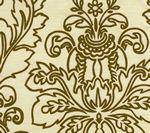 302753F MONTY OUTLINE Dark Khaki on Tint Quadrille Fabric