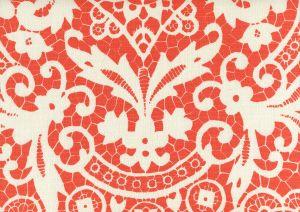 AC870-06 NEW BROMPTON Orange on Tint Quadrille Fabric