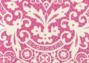 AC870-05 NEW BROMPTON Pink on Tint Quadrille Fabric