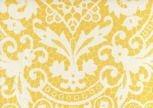 AC870-04 NEW BROMPTON Yellow on Tint Quadrille Fabric