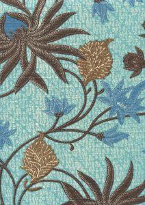 7070-01 NEW LOTUS BATIK Turquoise Browns Custom Only Quadrille Fabric