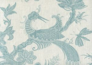 306200FW PARADIS Pale Aqua on White Quadrille Fabric