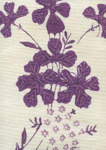 8280-02 PEACOCK FLORAL Multi Purples on Tint Quadrille Fabric