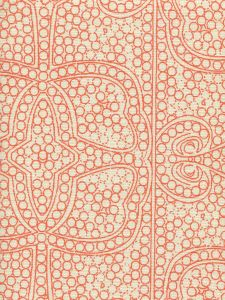 CP1000-06 PERSIA Orange on Taj Ecru Quadrille Fabric